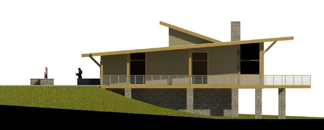 The right side view of the planned Rotary Park Nature Center.