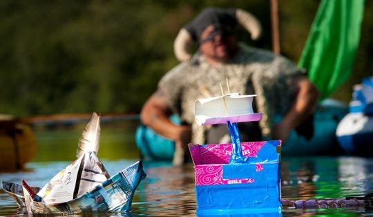 Paper boat races will be held during Frenchtown's Riverfest.