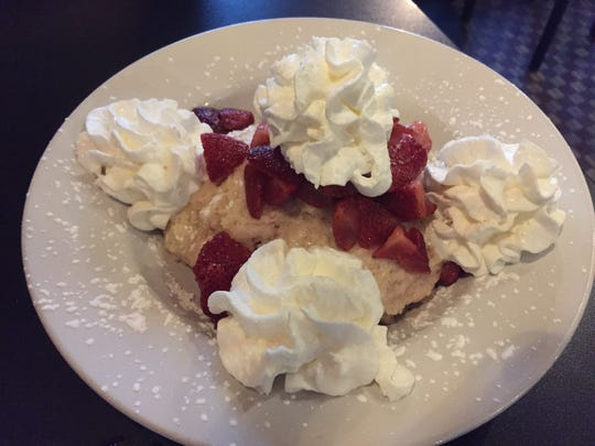 The strawberry shortcake ($5) at Cooper's on 5th in West Des Moines.