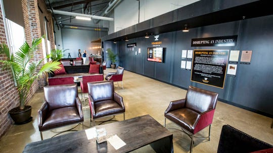 Alchemy Lounge at Foundry Distilling Co. during tour of their new facility and distillery Friday, Aug. 24, 2018, in West Des Moines . The bar will feature Foundry products and serve cocktails designed by a rotating group of some of the best bartenders in the world.