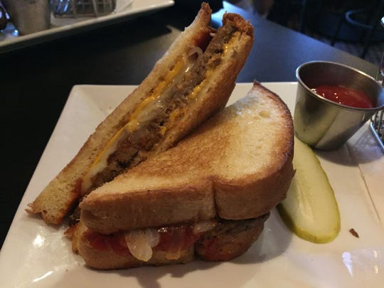 The Meatloaf Meltdown sandwich ($9) at Cooper's on 5th in West Des Moines.