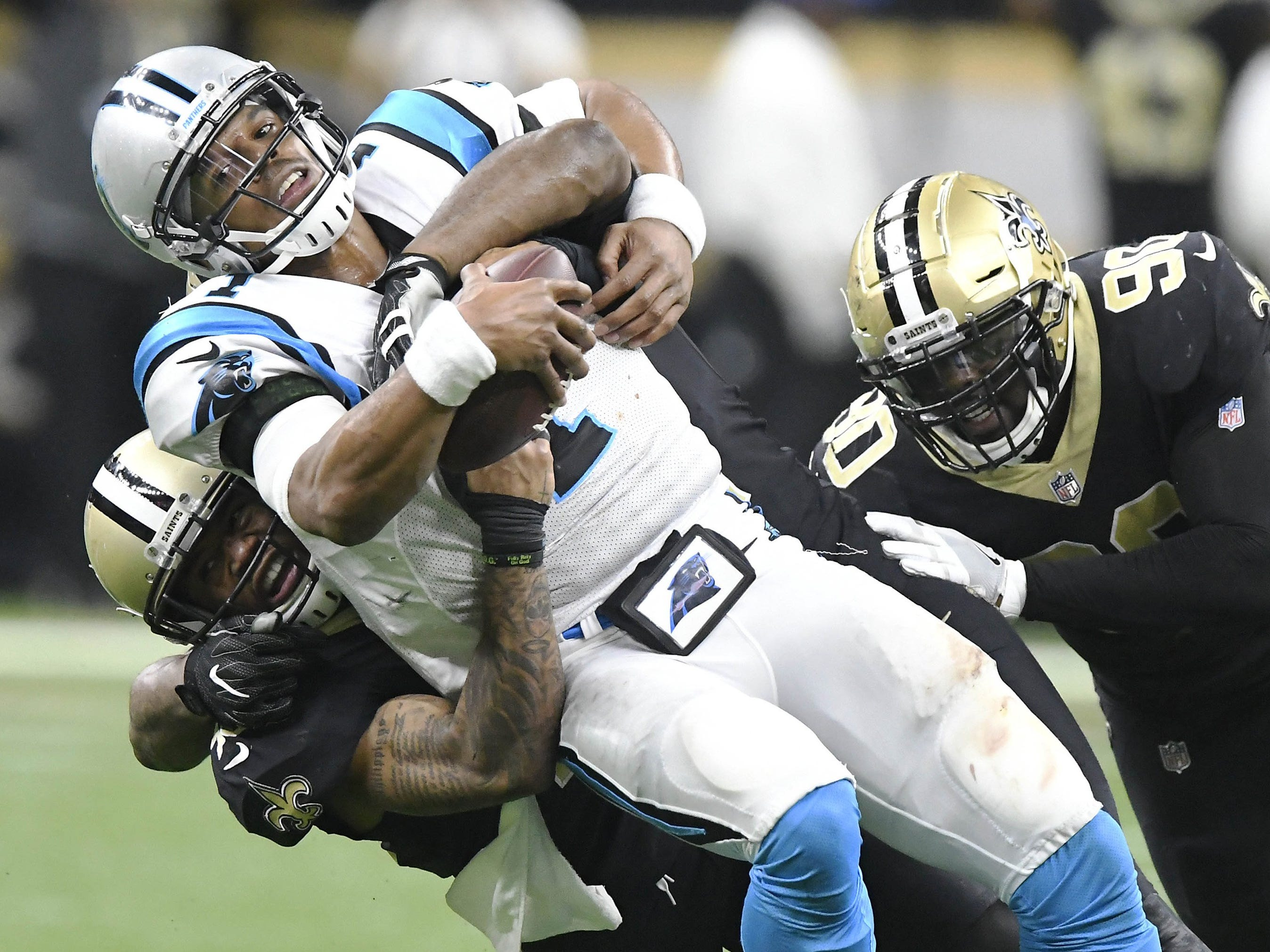 7. Carolina Panthers at New Orleans Saints, Week 17, 1 p.m. Dec. 30, Fox: This game could have serious playoff implications, from deciding the NFC South to deciding wild-card spots. Both NFC wild-card teams came out of the division last season.