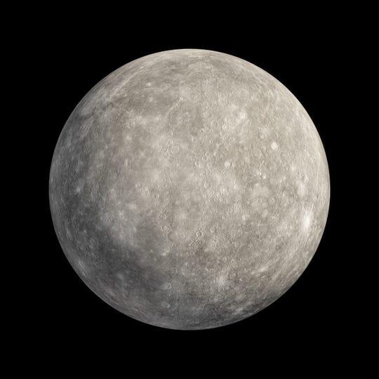 3D rendering of planet Mercury.