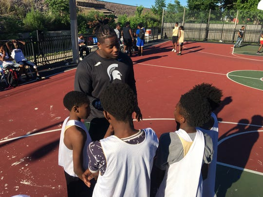 Michigan State defensive tackle Raequan Williams is passionate about mentoring youth in his hometown near Chicago.