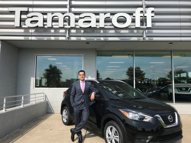 Eric Frehsee, Tamaroff Auto Group vice president, said customers will be able to subscribe to vehicles such as this 2019 Nissan Kicks through Mobiliti.