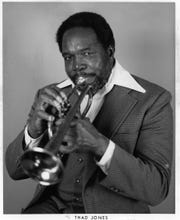 Thad Jones, renowned composer-arranger-trumpeter for Count Basie and the Thad Jones-Mel Lewis Big Band. He died in 1986.