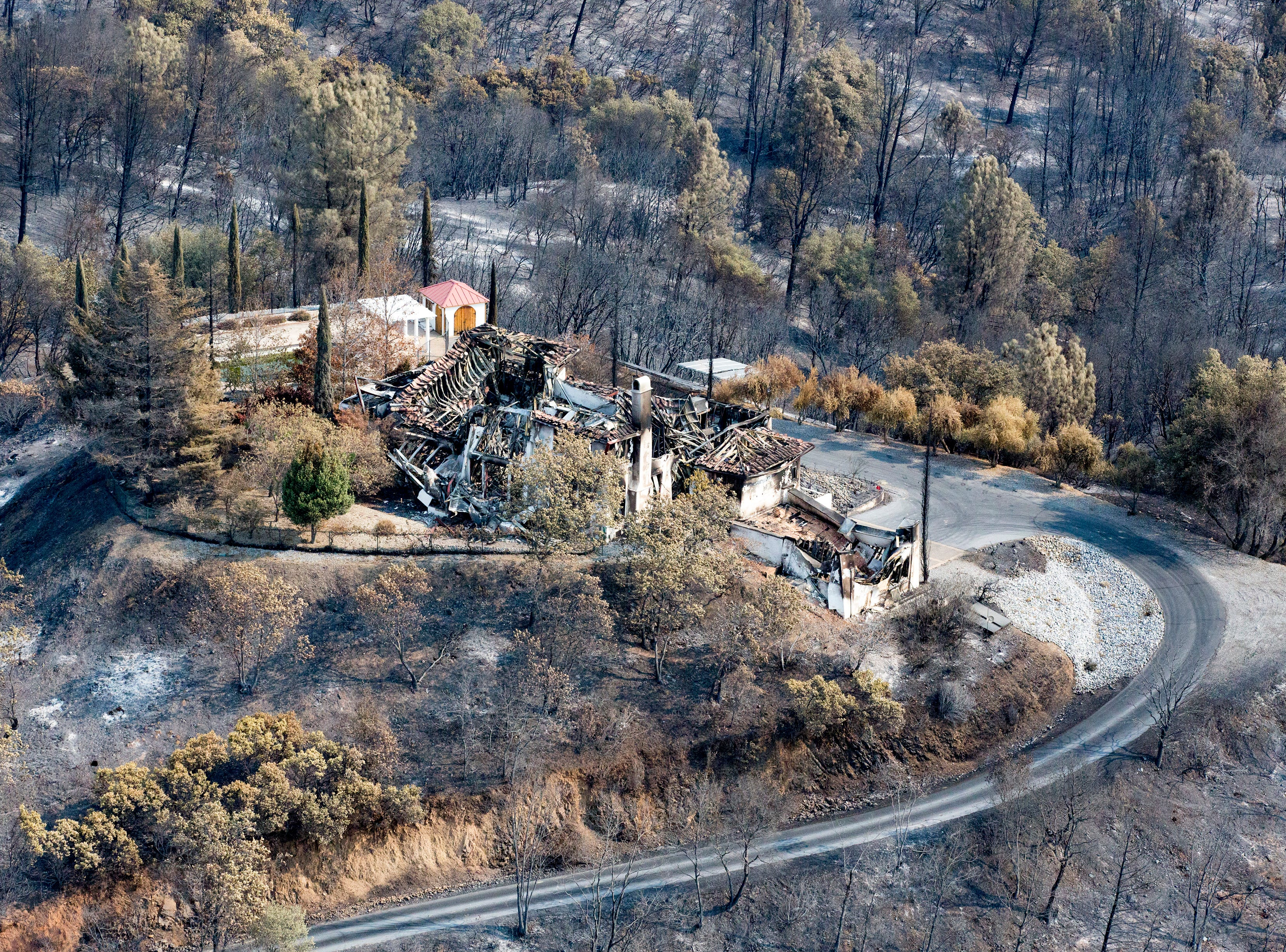 Aerial of Shasta area following the Carr fire in Shasta Co., Calif., Tuesday, August 21, 2018.