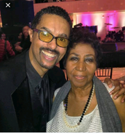 Greg Dunmore emceed Aretha Franklin's 72nd birthday party at the Ritz-Carlton Hotel in New York City in 2014.