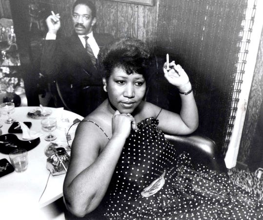 Aretha Franklin, here in 1984, was a familiar presence in the Detroit social scene in the 19 80s, going to parties, concerts and sport events.