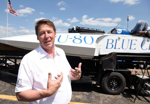 Paul Gordon, sponsor of the U-80 Blue Chip hydroplane boat, talks about the history of the boat.