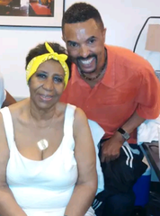 Greg Dunmore visited Aretha Franklin backstage after her 2014 performance at DTE Energy Music Theatre in Clarkston.