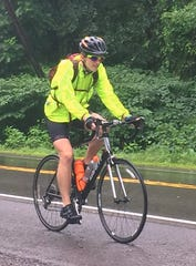 Alex Bennitt of Corning had to endure rain on nearly every day of his bicycle trip from New York to Florida.