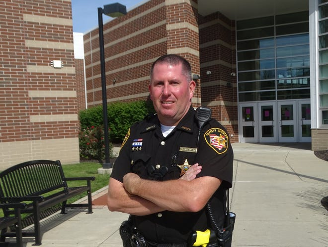 Sandusky County Sheriff's Office Deputy John Johannsen begins as new School Resource Office for Fremont City Schools.