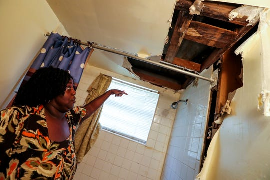 In 2018 Helen Crowley lived with vines growing out of the base of her toilet until it ws replaced. Her bathroom ceiling started to leak on Saturday night and by Sunday morning it fell into her tub.