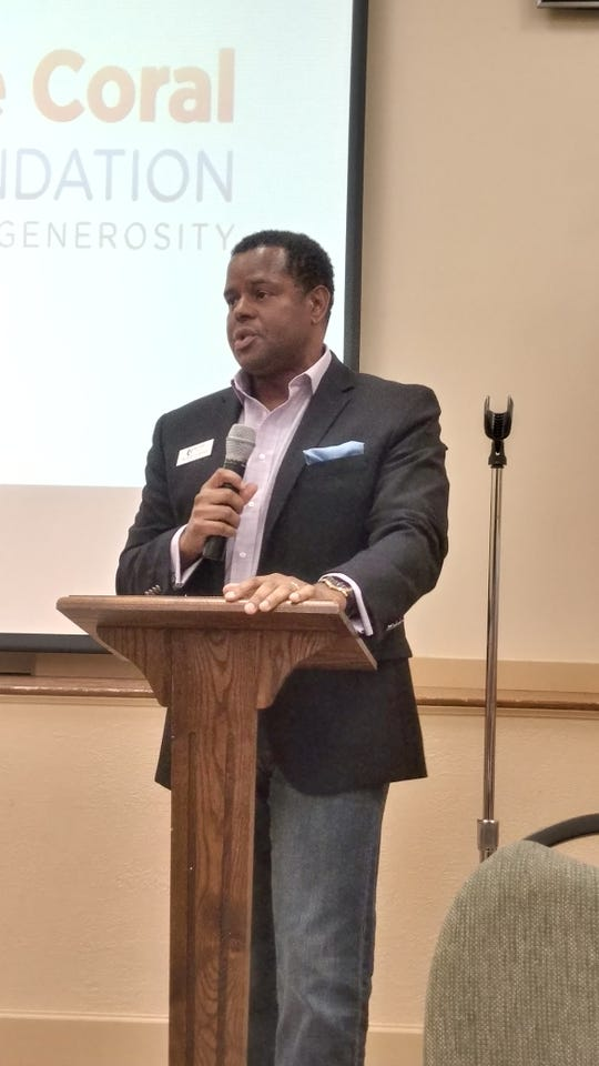 Michael Chatman, president and CEO of the Cape Coral Community Foundation, addresses nonprofit leaders at a recent seminar.