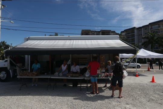 The Harry Chapin Food Bank opened a mobile food pantry on Fort Myers Beach Friday 9/24/2018 to help those affected by the affects of the red tide outbreak. Fort Myers Beach restaurants and hotels along with other businesses are taking a major financial hit.