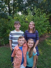 Nathan and Ryleigh Lewis with their siblings, twins JJ and Jaycie Neal.