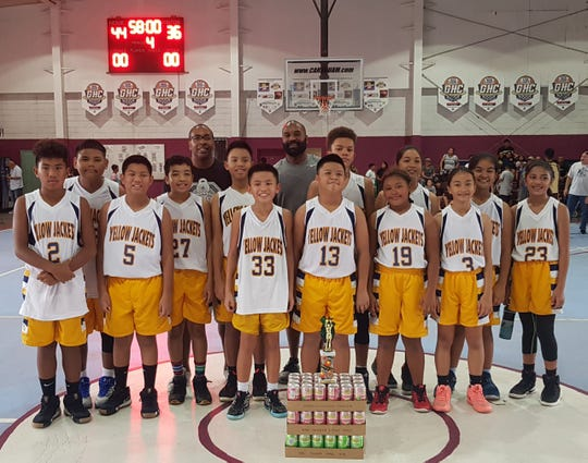 The Dededo Yellow-ackets got the 44-36 win against the Sinajana Rockers in the 12-U championship game of the 2018 Summerjam Tournament.