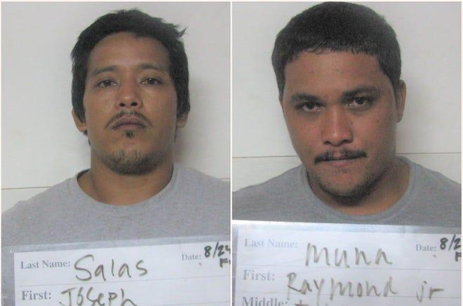 From left: Joseph Tomas Tenorio Salas and Raymond Jr. Toves Muna