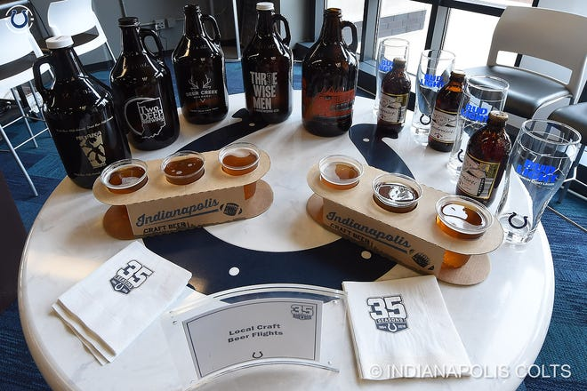 Local craft beer flights available at Lucas Oil Stadium this season