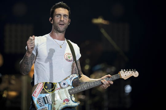 Adam Levine will perform with Maroon 5 Sept. 20 at Bankers Life Fieldhouse.