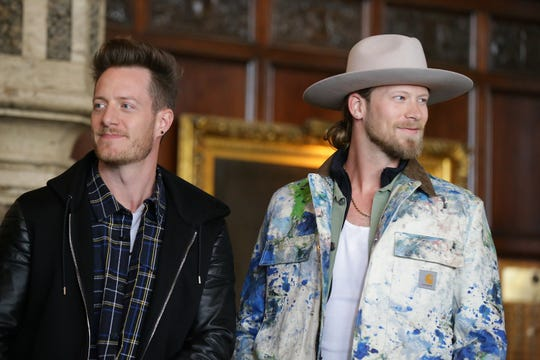 Florida Georgia Line (Tyler Hubbard, left, and Brian Kelley) will perform Sept. 8 at Indianapolis Motor Speedway.