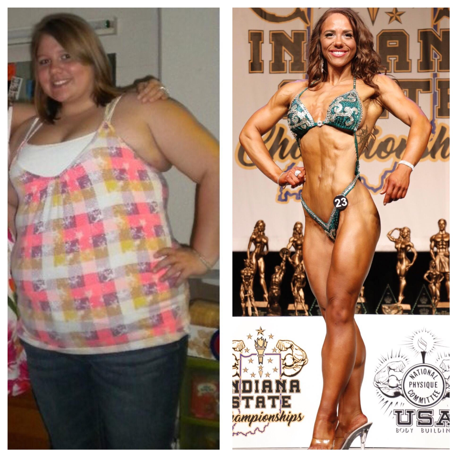 This Indianapolis woman once weighed 300 pounds. Now she's a champion bodybuilder.