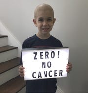 Tyler Ralstin is cancer-free 64 days after a bone-marrow transplant.