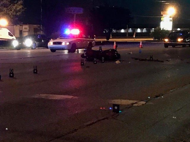 IMPD investigated a hit-and-run that left a motorcyclist dead on the east side Thursday night.