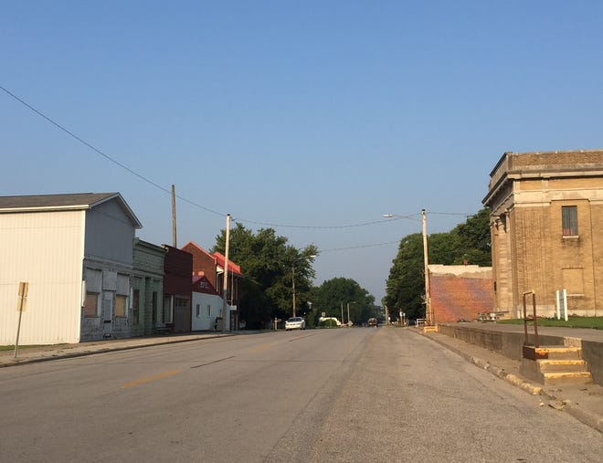 Pacific Street, the main street through Ladora, is quiet these days, but it has been the hub of activity for many years in the Iowa County community. This weekend marks its sesquicentennial.