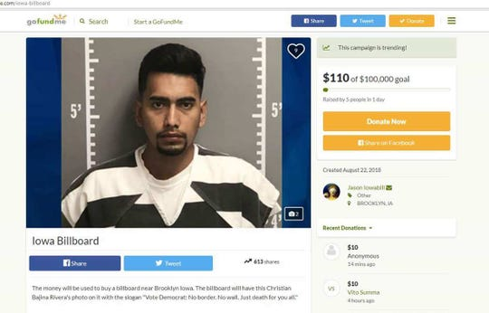An internet post that was made in the wake Cristhian Bahena Rivera's arrest in relation to Mollie Tibbetts' death.