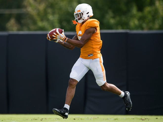 Tennessee freshman Alontae Taylor is in the mix for a starting spot at cornerback.