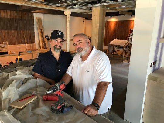 Steve Brandon and John Harbison, shown Aug. 22, are bringing legendary bar The Corner Lounge back. 2018