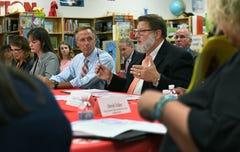 Gov. Haslam talks TN Ready at Halls Elementary School