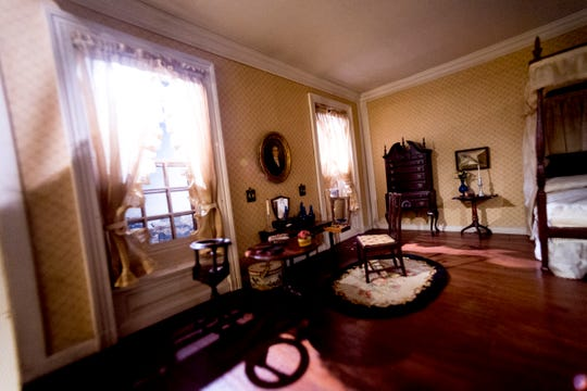 The New England bedroom circa 1770 is among the The Thorne Rooms at the Knoxville Museum of Art.