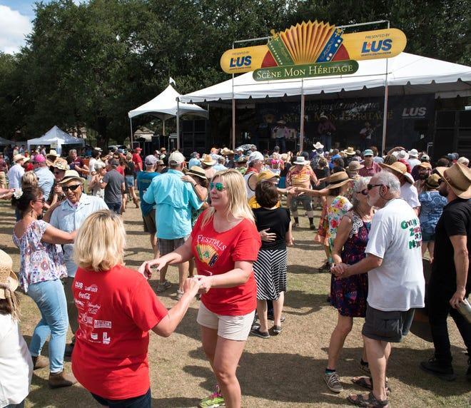 Dancers kick up their heels at the 2017 Festivals Acadiens et Creoles in Girard Park.