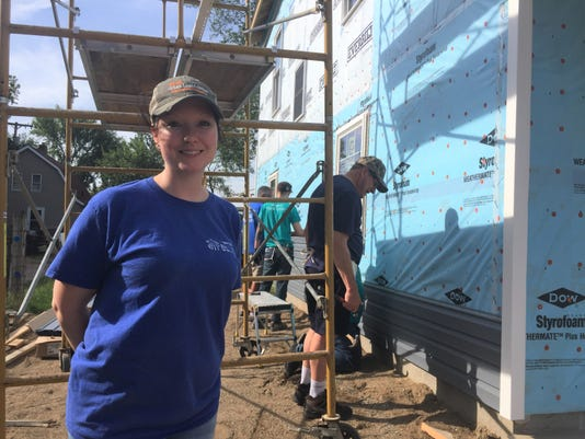 Gremore at Habitat for Humanity house build