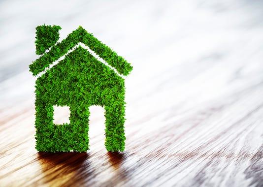 Ecology Home Concept 3d Illustration On Wooden Background