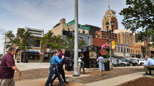 Downtown Lansing on S. Washington Square near E. Washtenaw St., Friday, Aug. 24, 2018.