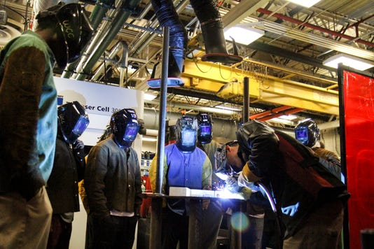 Welders are in such high demand that students are often hired before they even complete Washtenaw Community College's Welding and Fabrication Principles Certificate program, said college President Rose Bellanca.