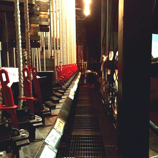Backstage at Marion's Palace Theatre.