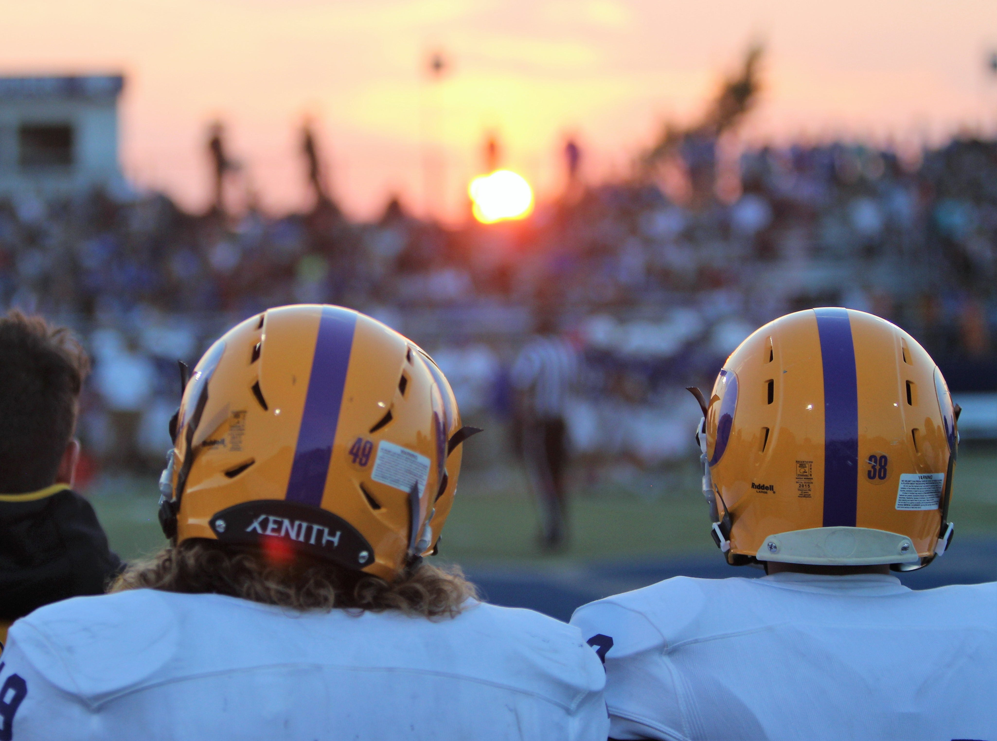 The sun sets over the field at Brookfield Central during a game against Oconomowoc on August 23.