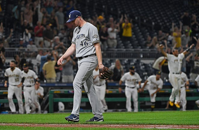 Corey Knebel has been on a roller-coaster ride as closer for the Brewers this season.