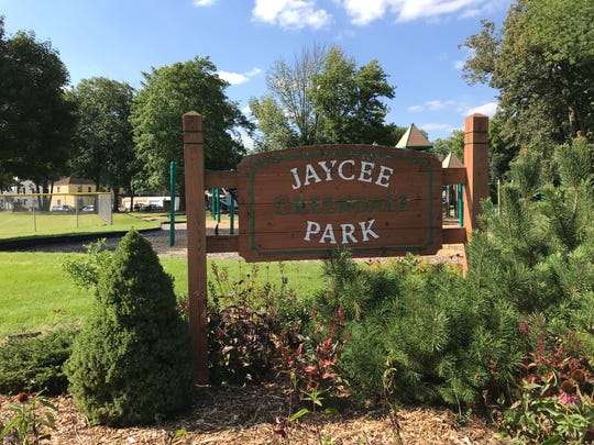 The Twi-Nite baseball and softball league, village of Greendale and Greendale School District are exploring an idea to add structures that would house portable toilets at parks where the league plays games, including Jaycee Park, shown here, at the corner of Broad Street and Southway in Greendale
