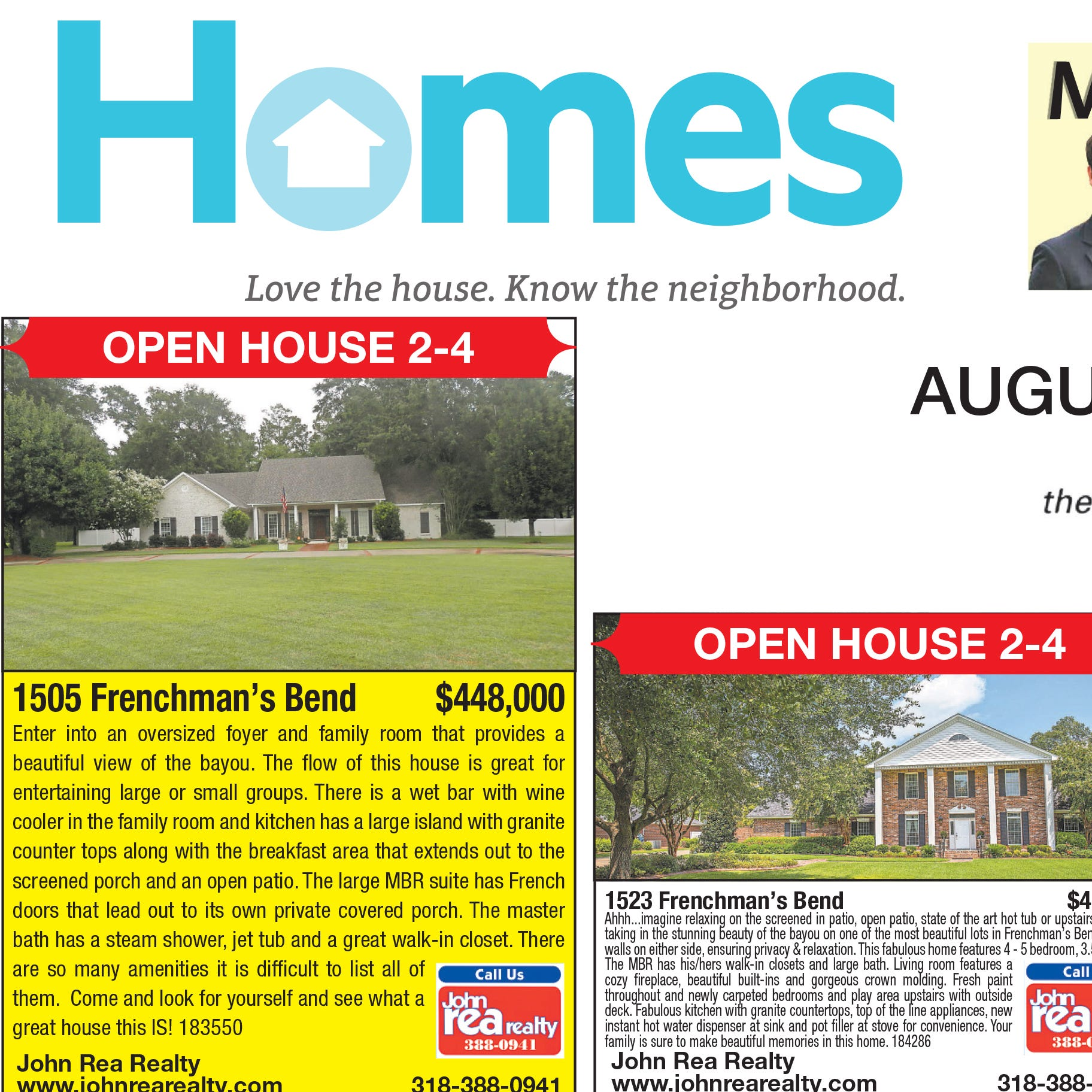 Homefinder: Aug. 26, 2018