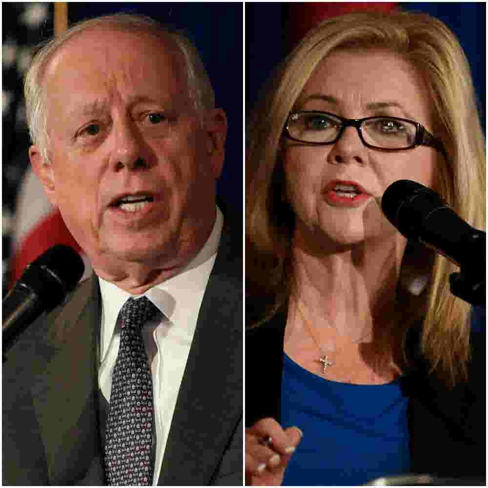 Phil Bredesen and Marsha Blackburn speak at an opioid epidemic summit in  Nashville