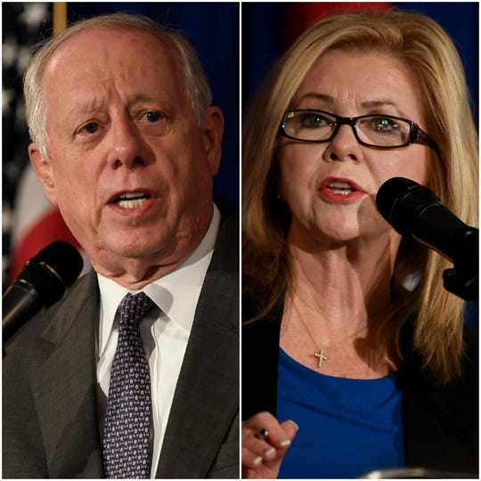 Democrat Phil Bredesen and Republican Marsha Blackburn, candidates for the U.S. Senate.