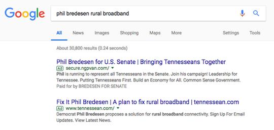 A pro-Bredesen anonymous Google ad