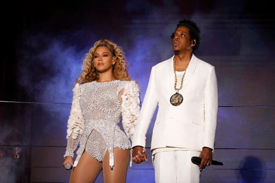 Beyonce and Jay-Z perform on Aug. 23, 2018, in Nashville.