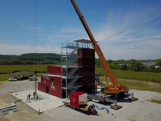 The Ashland City Fire Department announced Wednesday that its long-awaited mobile training facility for Cheatham County fire departments is nearly complete.